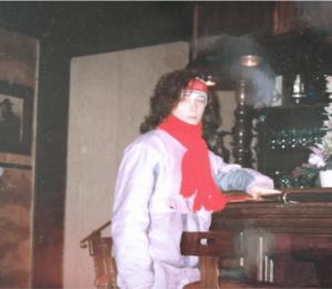 mój narciarski outfit sprzed lat - tak to Ja